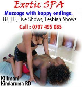 Exotic SPA kilimani kilimani kindaruma road escorts